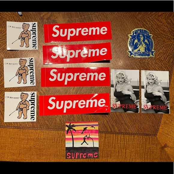 11 Supreme Stickers. Brand new. Unused